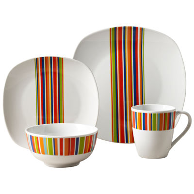 Westwood Stripes 16-pc. Dinnerware Set