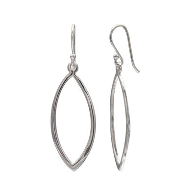Sterling Silver Marquise-Shaped Drop Earrings