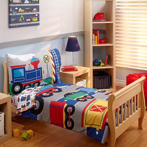 NoJo® Choo Choo 4-pc. Toddler Bedding Set