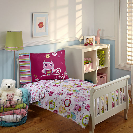 NoJo® Hoot Hoot 4-pc. Toddler Bedding Set