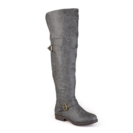 Journee Collection Kane Over-the-Knee Riding Boots - Wide Calf