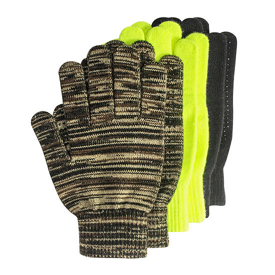 QuietWear® 3 Pack Grip Dot Gloves