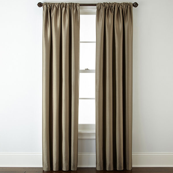 Royal VelvetR Plaza Lined Blackout Rod Pocket Back Tab Curtain Panel