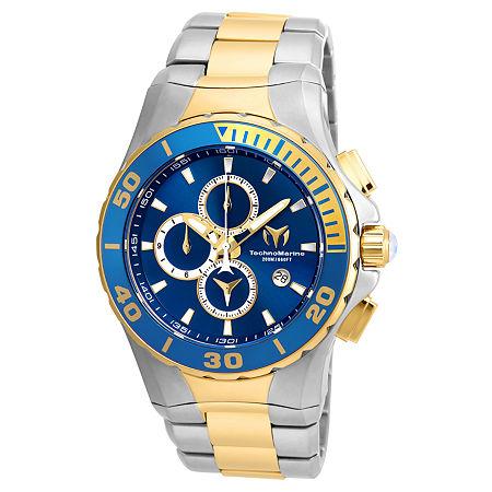 Techno Marine Mens Two Tone Stainless Steel Bracelet Watch - Tm-215047, One Size