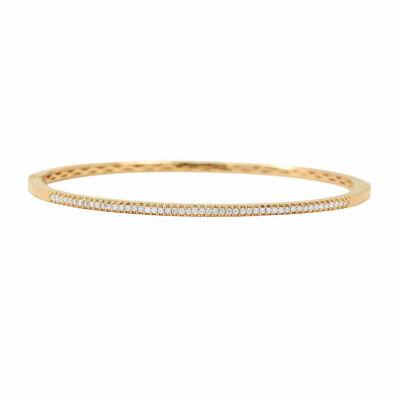 Womens 1/3 CT. T.W. White Diamond 14K Gold Bangle Bracelet