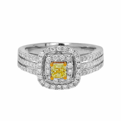 Womens 1 CT. T.W. Yellow Diamond 14K Gold Engagement Ring