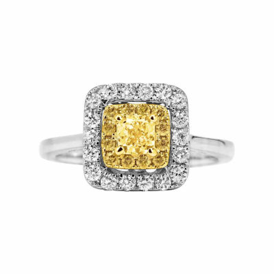 Limited Quantites! Womens 1 CT. T.W. Round Yellow Diamond 14K Gold Engagement Ring