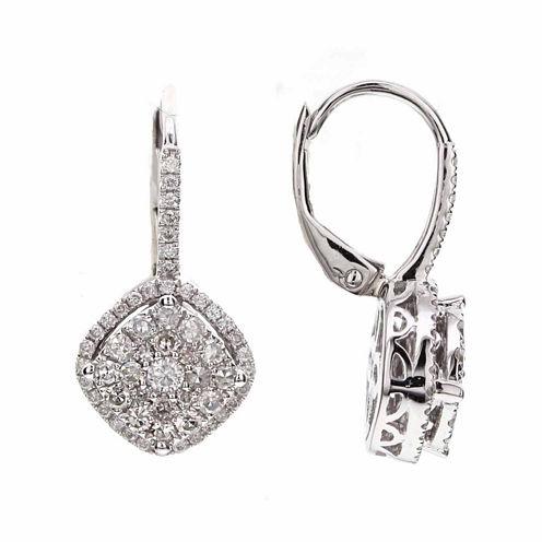 3/4 CT. T.W. Round White Diamond 14K Gold Stud Earrings