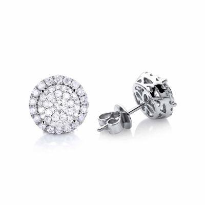 1/2 CT. T.W. Genuine White Diamond 14K Gold Stud Earrings