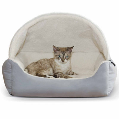 "K & H Manufacturing Lounge Sleeper Hooded Pet Bed 20"" x 25"