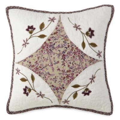 Home Expressions Lavendar Square Decorative Pillow