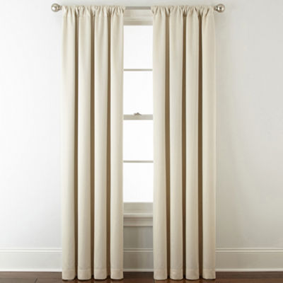 JCPenney Home Kathryn Rod-Pocket Back-Tab Room Darkening Curtain Panel
