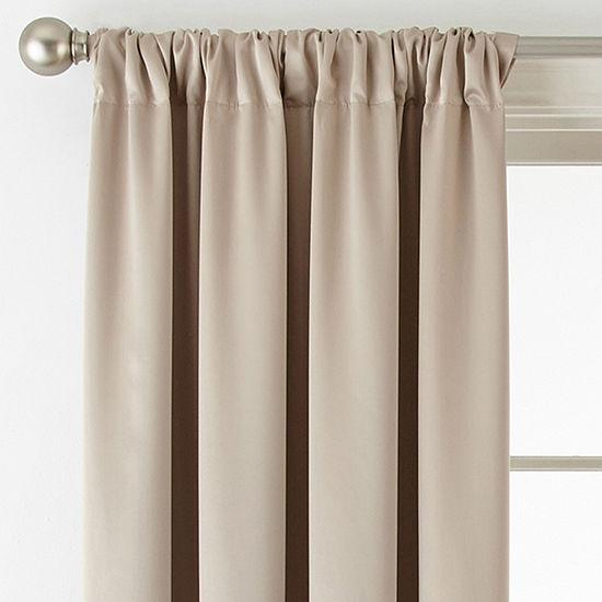 JCPenney Home Kathryn Rod-Pocket Back-Tab Room Darkening Curtain Panel