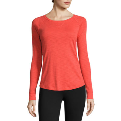Liz Claiborne® Long-Sleeve Slub Cotton Tee