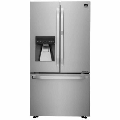 LG ENERGY STAR® 23.5 cu. ft. Smart Wi-Fi Enabled Counter-Depth French-Door Refrigerator