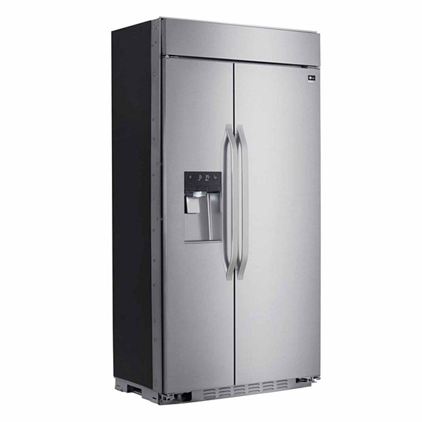 "LG 25.6 cu. ft. Cabinet Depth 42"" Wi-Fi Enabled Built-in Side by Side Refrigerator"