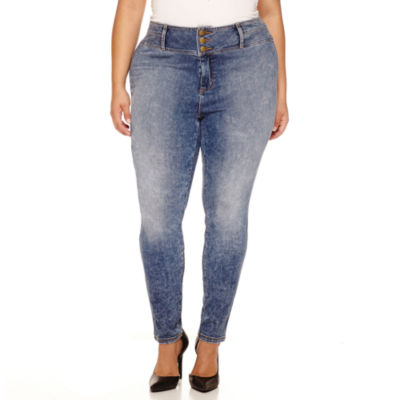 """Boutique+ 30"""" High-Rise Skinny Jeans - Plus"""