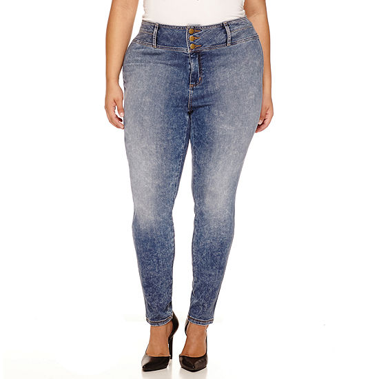 "Boutique+ 30"" High-Rise Skinny Jeans - Plus"