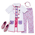 Disney Collection Doc Mcstuffins 4 Pc Dress Up Costume- Girls 2-8