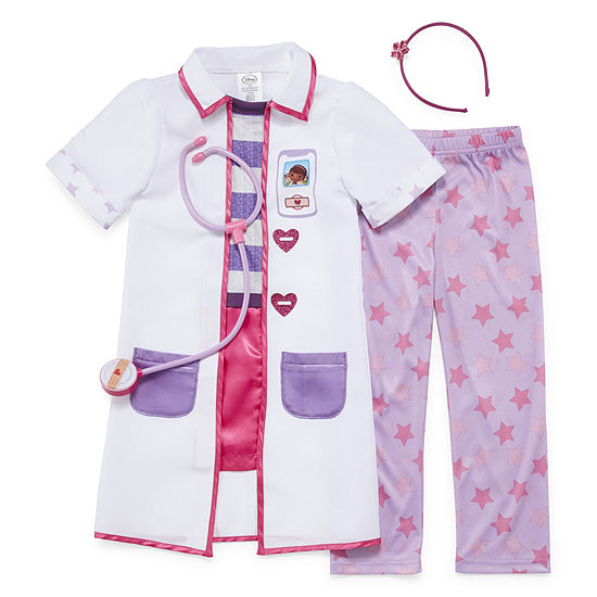 Disney Doc McStuffins 4 pc Dress Up Costume-Girls 2-8