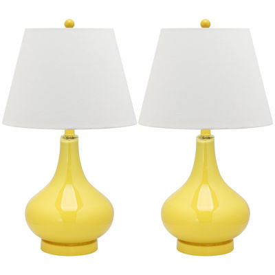 Safavieh Lemon Gourd Glass Lamp- Set of 2