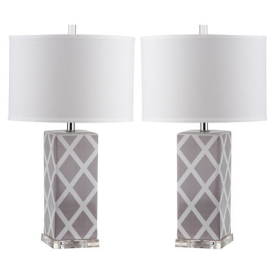 Ira Garden Lattice Table Lamp- Set of 2