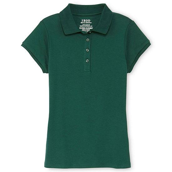 IZOD® Short-Sleeve Interlock Polo Girls 4-16 and Plus