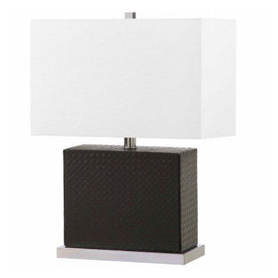 Saurian Faux Woven Leather Table Lamp
