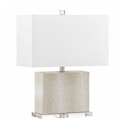 Saurian Faux Snakeskin Table Lamp