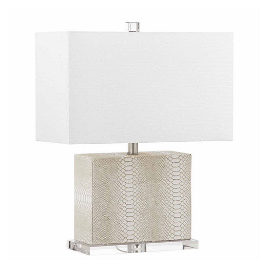 Saurian Faux Snakeskin Table Lamp