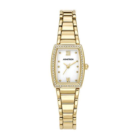 Armitron Womens Gold Tone Bracelet Watch-75/5675mpgp