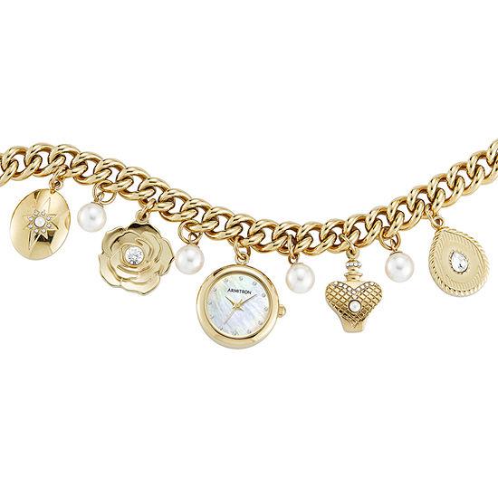 Armitron Womens Gold Tone Bracelet Watch-75/5684mpgp