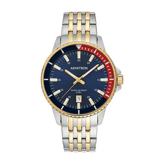 Armitron Mens Two Tone Bracelet Watch-20/5414nvtt
