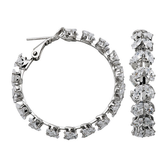 Sparkle Allure Cubic Zirconia Hoop Earrings