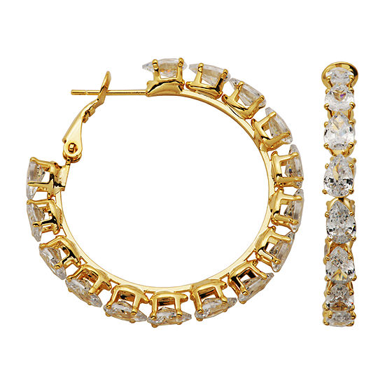 Sparkle Allure Cubic Zirconia Hoop Earrings
