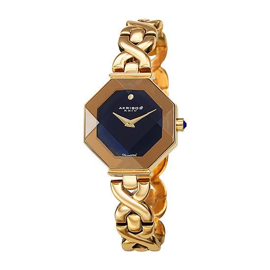 Akribos XXIV Womens Gold Tone Bracelet Watch-A-1086ygb