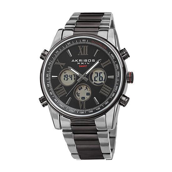 Akribos XXIV Mens Two Tone Stainless Steel Bracelet Watch-A-1095ttb