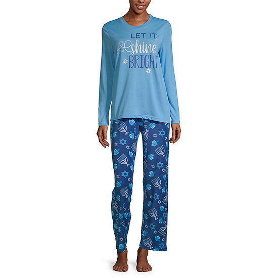 Hanukkah Family Womens-Talls Pant Pajama Set 2-pc. Long Sleeve