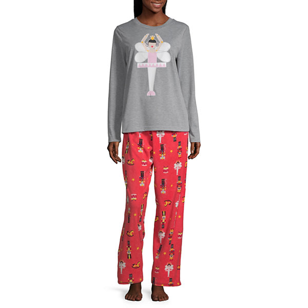 Secret Santa The Nutcracker Family Womens-Talls Pant Pajama Set 2-pc. Long Sleeve