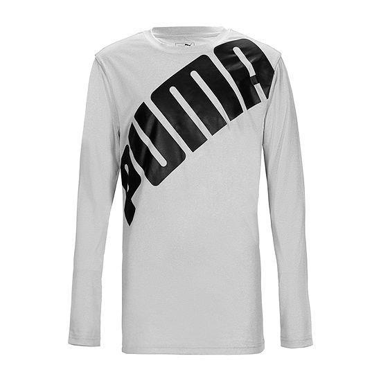 Puma Puma Boys Apparel Boys Crew Neck Long Sleeve Graphic T-Shirt - Big Kid