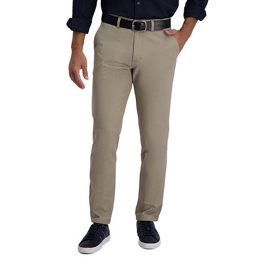 Haggar® In Motion Khaki Slim-Straight Fit Flat Front Pant