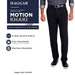 Haggar® In Motion Khaki Slim-Straight Fit Flat Front Pant