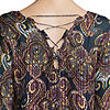by&by Womens V Neck 3/4 Sleeve Lace Up Blouse-Juniors