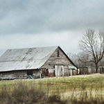 Metaverse Art An Old Gray Barn Framed Print Wall Art