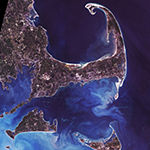 Metaverse Art Cape Cod From Space Framed Print Wall Art