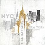 Metaverse Art Empire State Building Gallery Wrapped Canvas Wall Art