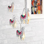 Metallic Printed Llama String Lights