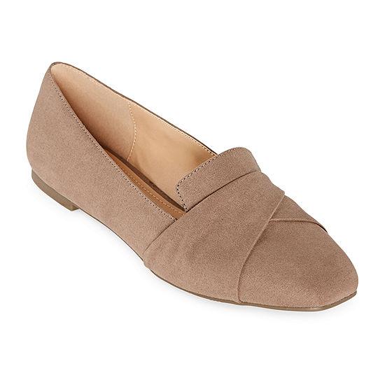 a.n.a Womens Karolina Pull-on Square Toe Ballet Flats