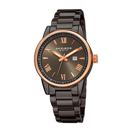 Akribos XXIV Womens Gray Stainless Steel Bracelet Watch-A-976gnr