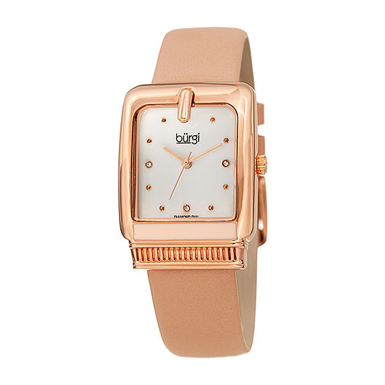 Burgi Womens Pink Strap Watch-B-192pk